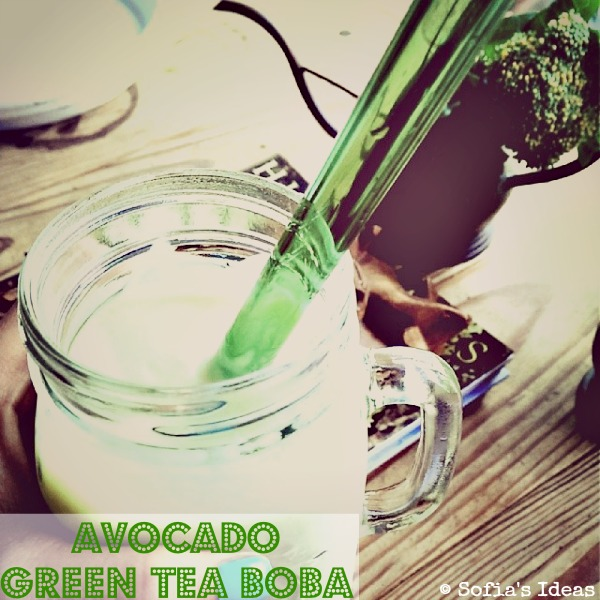 avocado green tea boba.SofiasIdeas